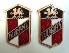 Durant and Rugby Car Badges