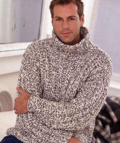 Mans Rib Sweater - free pattern