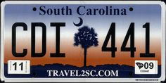 South Carolina State License Plate | The US50
