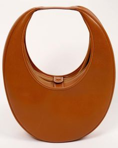 very rare 1989 HERMES courchevel leather circular 'Folies' bag 5