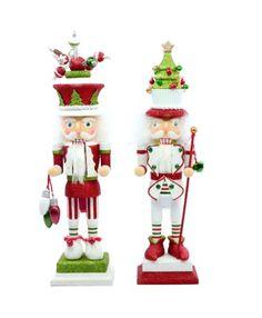 Kurt Adler Hollywood Christmas Themed Nutcracker Set of 2