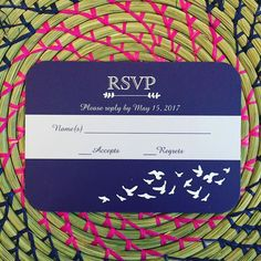 Such a pretty RSVP card Part of the coastal birds collection #tinythimble #sayyes  #zazzle #weddingplanning
