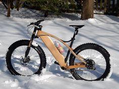 Wood worker, felt he could cross over. Wooden Bicycle, Wood Bike, Wood Worker, Wooden Projects, Bike Frame, Bike Design, Cycling Bikes, Made Of Wood, Mountain Biking