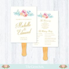 Hey, I found this really awesome Etsy listing at https://www.etsy.com/listing/247811609/wedding-fan-program-template-floral