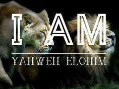 I AM ~ YAHUAH ELOHIM