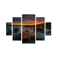 Lincoln Harrison 'Granite Quarry' Multi-Panel Art Set, Multi-Colored ($160) ❤ liked on Polyvore featuring home, home decor, wall art, triptych wall art, colorful home decor, inspirational home decor, colorful wall art and inspirational wall art