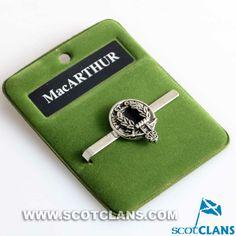 MacArthur Clan Crest Tie Slide