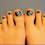 Cute, simple toe nail design.
