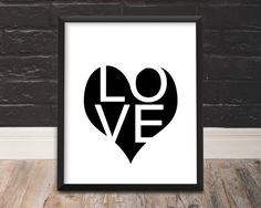Love Print Love Wall Art Contemporary Modern by TrendingArtPrints