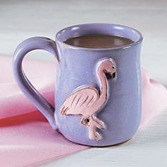 Flamingo Mug. Would be a perfect Secret Buddy present for a Flam counselor!