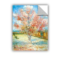 ArtWall Pink Peach Tree by Vincent Van Gogh Art Appeelz Removable Wall Mural Size: