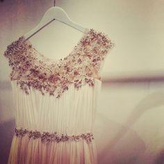Marchesa wedding dress detail, fall 2014 collection. Photo: Charanna K. Alexander/The New York Times