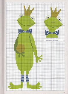 Frog :) Gallery.ru / Фото #60 - Вышивка 71 - kuritsa-kusturitsa others like chicken, bunny, flowers... and and..