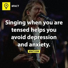 8fact. Singing is my go-to stress-relief ritual. It works.