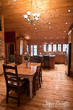 simply beautiful log home kitchen