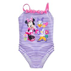 9//12,18//24M NWT DISNEY STORE MINNIE MOUSE 1-PIECE SWIMSUIT BABY UPF 50