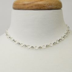 "Crystal Cascade  Silver, Length: 16""  Silver Finish with Clear Crystals  $19.00  http://www.thebluezebra.com  shipping to Canada and the USA IS FREE!!"