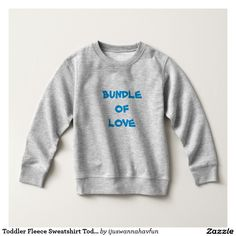 Toddler Fleece Sweatshirt Toddler Warm Grey Sweatshirts. Unique gifts!  $21.20