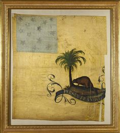 American Revolution flags sell for $17.4 million Flags Of Our Fathers, Palmetto Tree, Continental Army, Gold Silk, American Revolution, Red And White Stripes