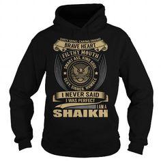 Awesome Tee SHAIKH Last Name, Surname T-Shirt T shirts