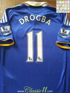 Relive Didier Drogba's 2008/2009 Premier League season with this original Adidas Chelsea home football shirt.