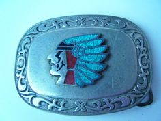 Vintage Mid Century Native American Indian Chief Belt by parkledge