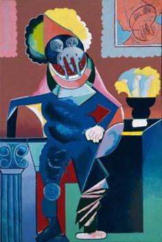 Caballero cubista aux larmes, 1973 - Luis Gordillo óleo sobre lienzo Museo Reina Sofía He elegido esta obra porque me parece muy curiosa, tanto en las formas que a utilizado el pintor, como los colores.