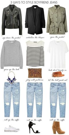 Some cute ways to style boyfriend jeans
