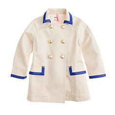 crew cuts girls trench coat
