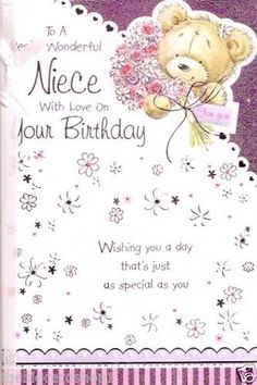 Happy Birthday to a Really special Niece Quality Birthday card