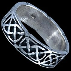 Silver ring, band Silver ring, Ag 925/1000 - sterling silver. A band with an interweaving pattern.
