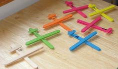 airplanes made from craft sticks for preschool Creative Activities, Craft Activities For Kids, Preschool Activities, Projects For Kids, School Projects, Crafts For Kids, Craft Ideas, Airplane Activities, Library Activities