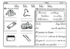 Fichas infantiles para aprender a leer y aprender a escribir con la letra B. Dibujos Lectoescritura con letra B para colorear. Letra_B_5