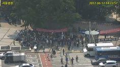 6월 17일 실시간 교통 CCTV로 보는 태극기집회 외 서울시내 집회 및 행사