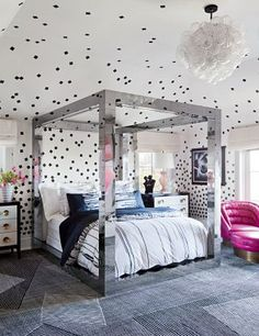 Contemporary Bedroom by Kelly Wearstler and Tichenor & Thorp Architects Inc. in Bel Air, California