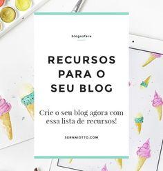 Crie o seu blog: lista de recursos