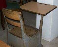 The Caregiver's Voice HUMOR - It pays to go to school_Eric Riddle's old-fashioned school desk