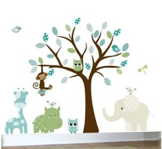 Childrens wall decal jungle owl tree wall decal by couturedecals Childrens Wall Decals, Kids Wall Decals, Nursery Wall Decals, Nursery Room, Nursery Ideas, Baby Room, Room Ideas, Bird Wall Art, Tree Wall