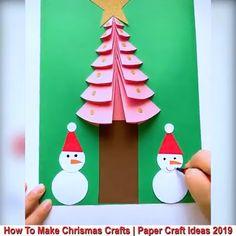 Christmas DIY Crafts for kids! Pinterest Christmas Crafts, Christmas Card Crafts, Funny Christmas Cards, Christmas Cards Handmade Kids, Homemade Christmas, Hobbies And Crafts, Crafts For Kids, Arts And Crafts, Diy Crafts