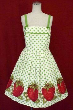 Emily Temple Cute strawberries dress. LOVE the classic style of this dress. Reminds me of my younger days.