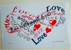 Love Heart JPG I Love You  Red Hearts Fancy by GinaWaltersdorffArt