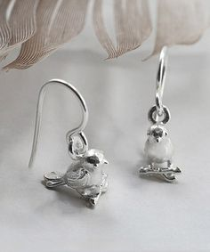 Look at this #zulilyfind! Sterling Silver Little Bird Drop Earrings #zulilyfinds