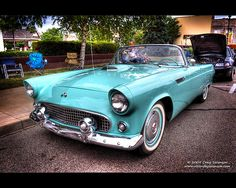 1955 Ford Thunderbird convertible • by Craig Sorenson (Cygnus~X1 - Visions by Sorens) via Flickr