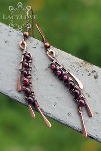 My wire wrapped jewelries