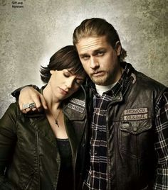 Charlie Hunnam  ...and Maggie...SOA (EW)