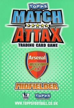 2010-11 Topps Premier League Match Attax #10 Jack Wilshere Back