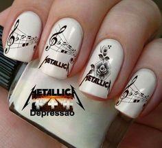 Metallica nail art ♡                                                                                                                                                     Más