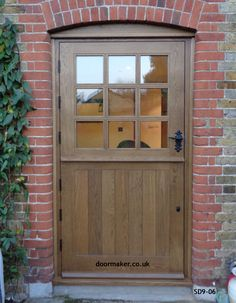 Bespoke Doors Stable Door with 9 Panes made from Oak Oak Front Door, Back Doors, Door Alternatives, Cottage Door, Stone Cottages, External Doors, Garden Doors, Moldings And Trim, H & M Home