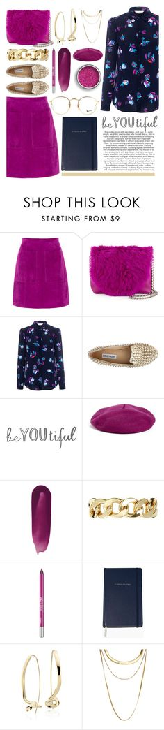 """""""Floral Silk Blouse & Navy"""" by sophistiratchet ❤ liked on Polyvore featuring L.K.Bennett, Foley + Corinna, Rebecca Taylor, Steve Madden, Halogen, Monki, Urban Decay, Kate Spade, Blue Nile and French Connection"""
