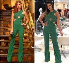 Coincidência Fashion! Ex-BBB Vivian Amorim repete jumpsuit de Marina Ruy Barbosa